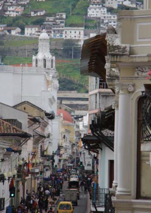 Stará časť Quita - hlavného mesta Ekvadoru