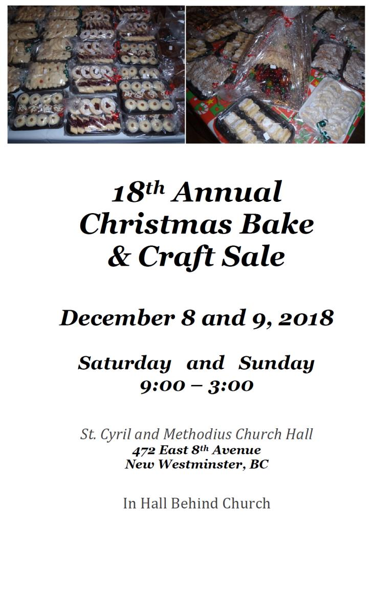 Craft and Bake Sale 2018