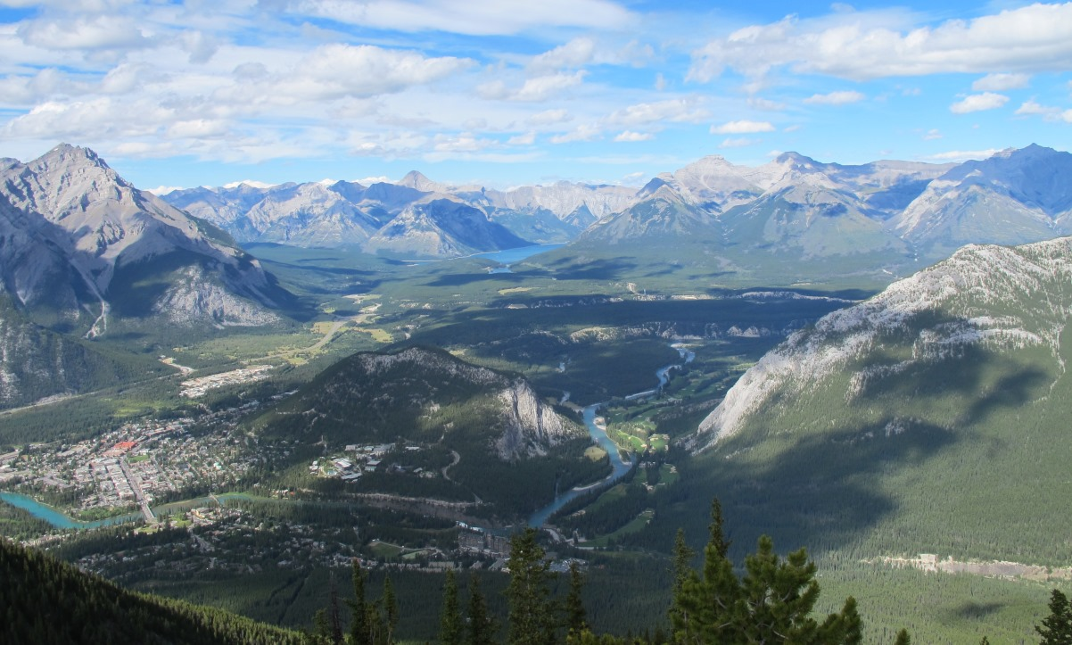 The views from the Sulphur Mountain in Banff National Park